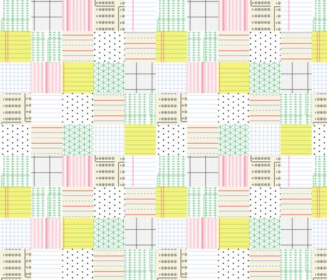 School Paper Patchwork fabric by mongiesama on Spoonflower - custom fabric