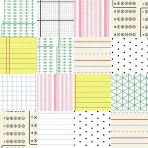 School Paper Patchwork