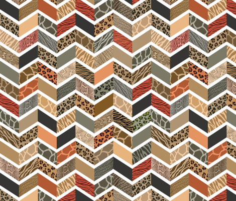 Animal Print Chevron - Safari fabric by run_quiltgirl_run on Spoonflower - custom fabric