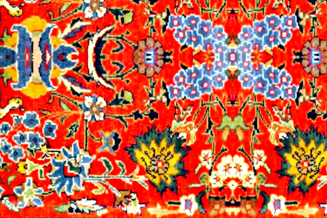 Oriental Red big fabric by miss_blümchen on Spoonflower - custom fabric