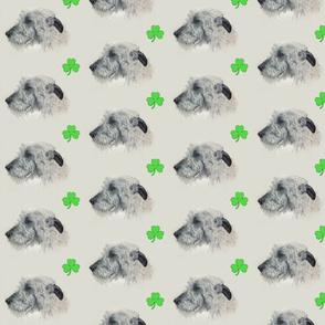 Shamrocks and Irish Wolfhounds