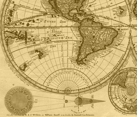 Davids World Map fabric by morlakes on Spoonflower - custom fabric