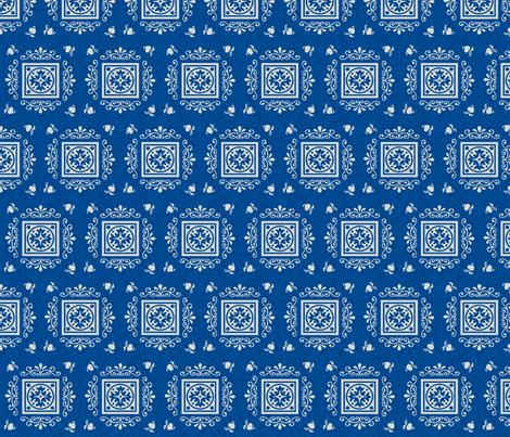 Victorian Blue & Grey fabric by kaylaconspiracy on Spoonflower - custom fabric
