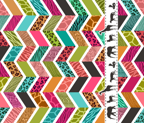 Animal Print Chevron - WILD About Zig Zags fabric by run_quiltgirl_run on Spoonflower - custom fabric