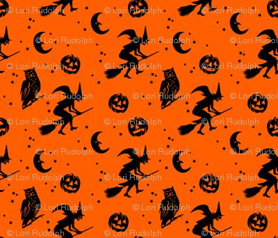 Bump in the night ~ Black on orange