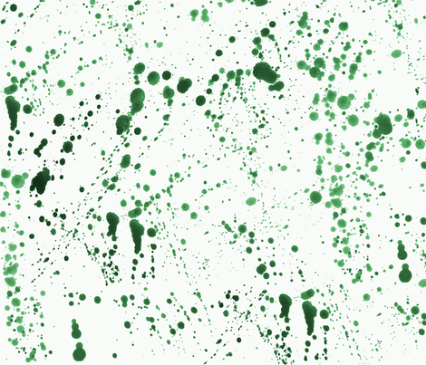 Green Ink Splatter fabric by pond_ripple on Spoonflower - custom fabric