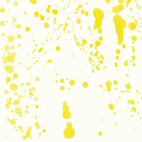 Yellow Ink Splatter