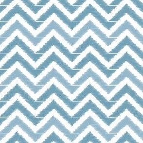 Pastel Blue Chevron