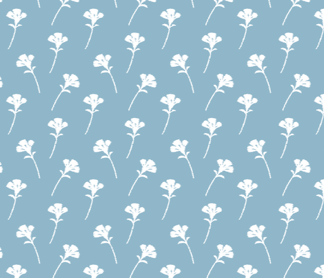 Pastel Blue Scatter Floral fabric by leeandallandesign on Spoonflower - custom fabric
