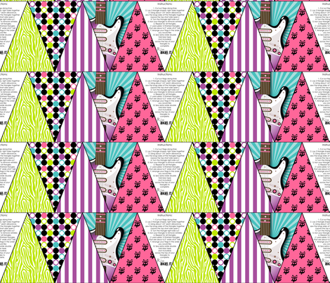 Girls Rock Bunting fabric by risarocksit on Spoonflower - custom fabric