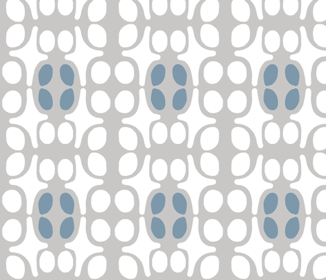 Wacky Moroccan (stone, deep sky & white) fabric by pattyryboltdesigns on Spoonflower - custom fabric