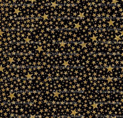 Gold Starry Night- Black