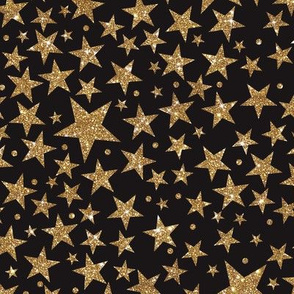 Gold Starry Night- Black