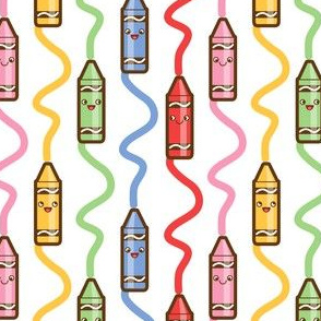 Drawing crayons