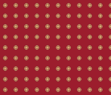 Geranium Red Dots © Gingezel™ 2012 fabric by gingezel on Spoonflower - custom fabric