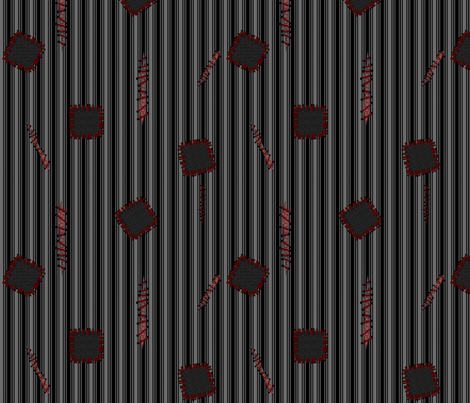 ZOMBIE GARB fabric by glimmericks on Spoonflower - custom fabric