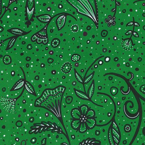Green Garden fabric by siya on Spoonflower - custom fabric