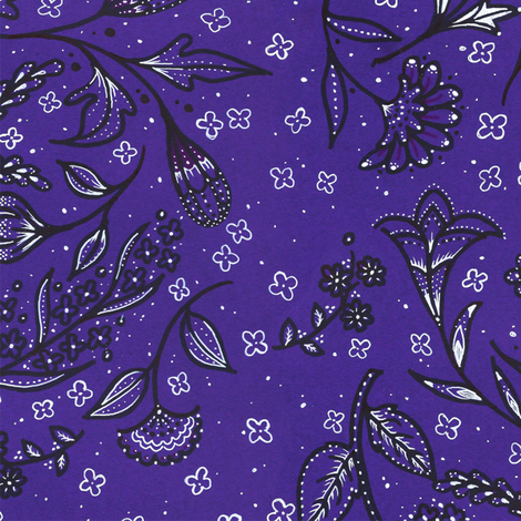 Doodle Nocturne fabric by siya on Spoonflower - custom fabric