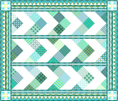 Blue_Ridge_Summer_---_copyright_2012_SEWolcott fabric by fireflower on Spoonflower - custom fabric