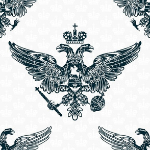 royal eagles seamless pattern