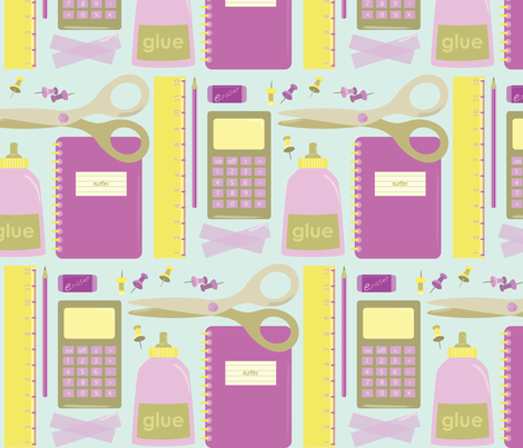 Back to school fabric by lauraharding on Spoonflower - custom fabric