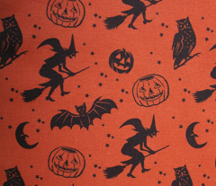 Bats and Jacks ~ Black on Orange
