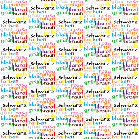 German Colour Words fabric by greennote on Spoonflower - custom fabric