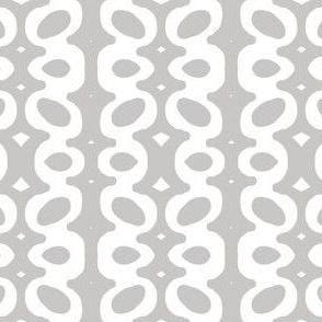 Egg Drop Stripe (white & dove grey)