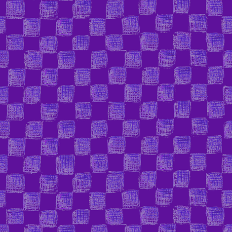 checkerboard in grape fabric by weavingmajor on Spoonflower - custom fabric