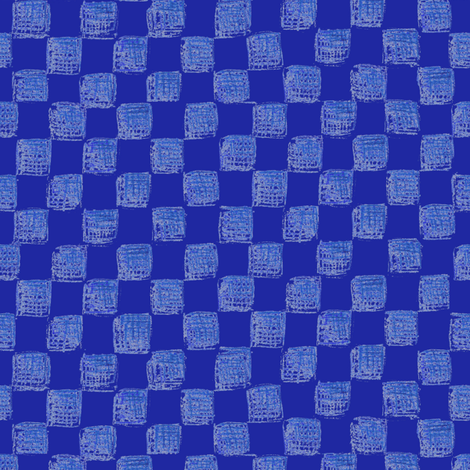 checkerboard in sapphire fabric by weavingmajor on Spoonflower - custom fabric