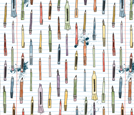 Mark It Up (Watercolo fabric by leighr on Spoonflower - custom fabric