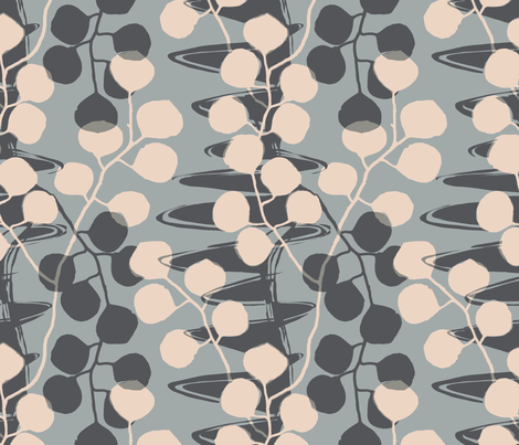 Eucalyptus Meander /00 fabric by elizabeth_hale_design on Spoonflower - custom fabric