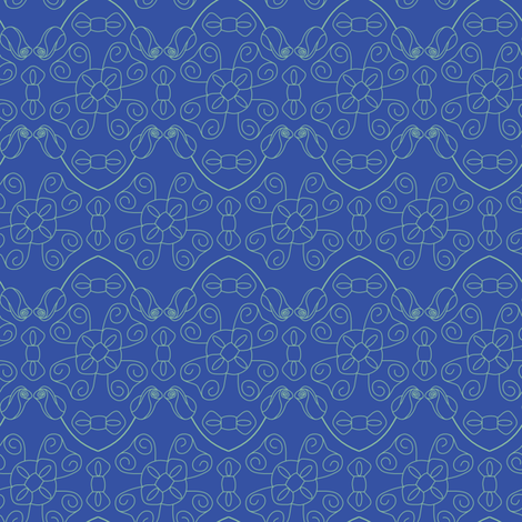 Bows and Roses fabric by loopy_canadian on Spoonflower - custom fabric