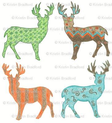 Meadow Deer in Multi