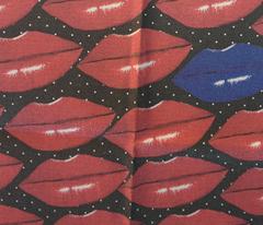 Kiss me I am freezing on polka dot