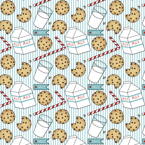 Milk and Cookies fabric by risarocksit on Spoonflower - custom fabric