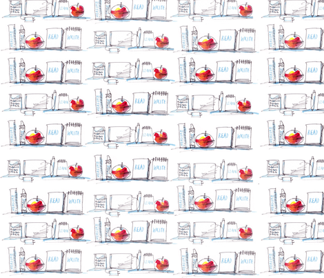 School Tools fabric by macgregor-art on Spoonflower - custom fabric