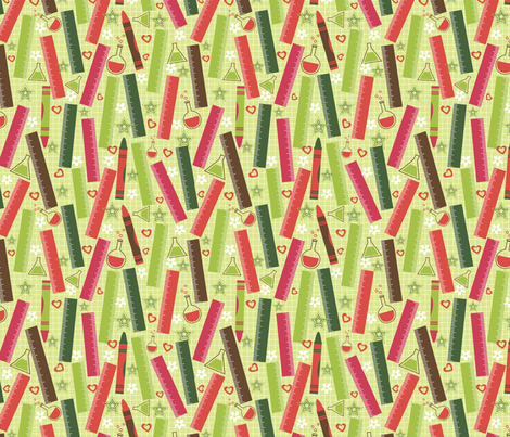 Back to School fabric by cherished_dreams on Spoonflower - custom fabric