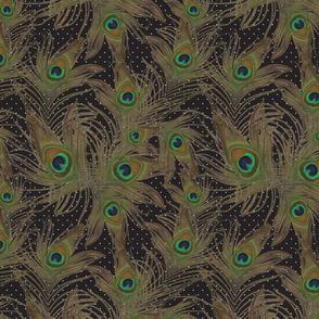 peacock feather polka dot