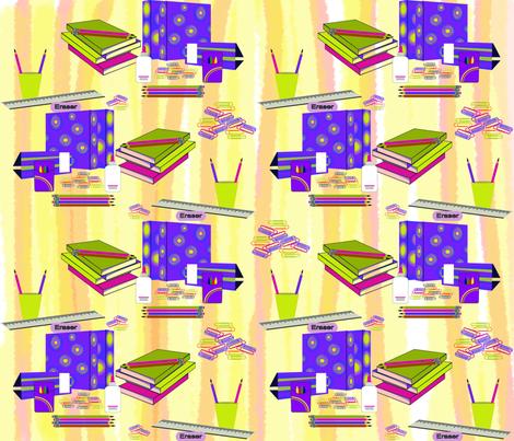 school_supplies fabric by riztyd on Spoonflower - custom fabric