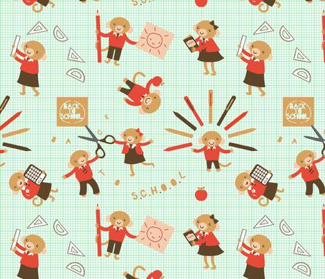Little Monkeys Go Back to School! fabric by zoel on Spoonflower - custom fabric