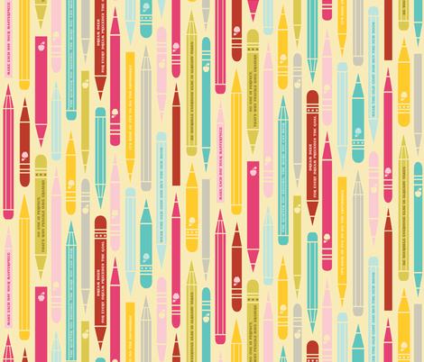 Inspirational Pencils fabric by natasha_k_ on Spoonflower - custom fabric