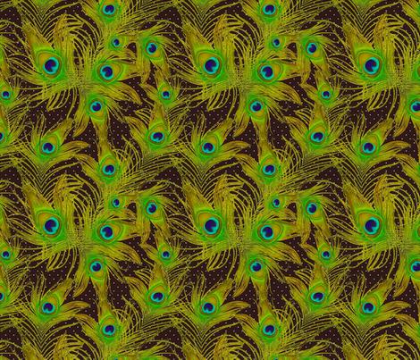 bright green feather fabric by kociara on Spoonflower - custom fabric