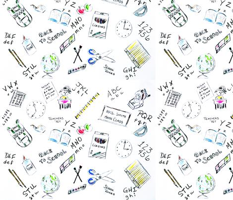 School-Supplies fabric by windancerr13 on Spoonflower - custom fabric