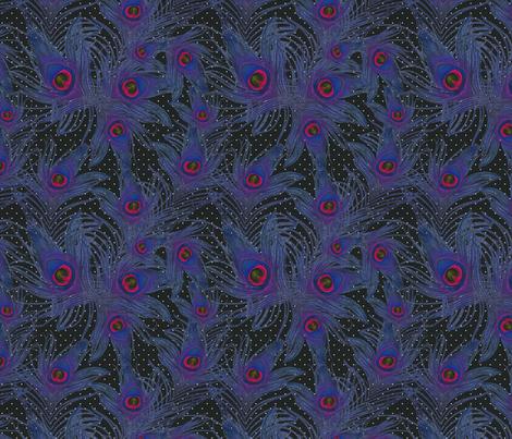 purple feather fabric by kociara on Spoonflower - custom fabric