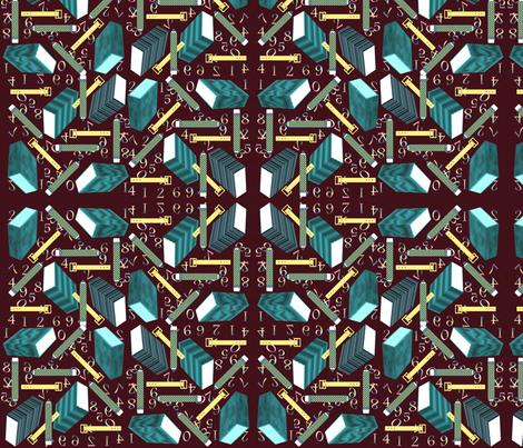 SCHOOL_SUPPLIES_1 fabric by anino on Spoonflower - custom fabric