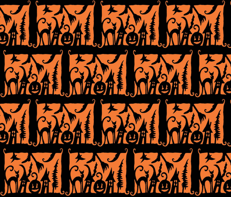 HALLOWEEN SILHOUETTES fabric by bluevelvet on Spoonflower - custom fabric