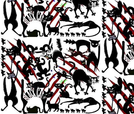 BLACK CAT SCRATCH fabric by bluevelvet on Spoonflower - custom fabric