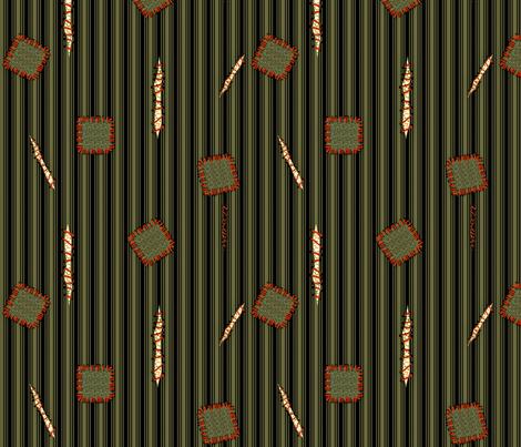 zombie garb - green fabric by glimmericks on Spoonflower - custom fabric