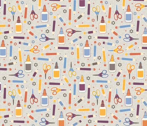 Draw, Cut, Glue fabric by jennartdesigns on Spoonflower - custom fabric
